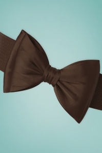Banned 50s Bella Bow Belt in Brown  230 70 25730 20160308 0008a