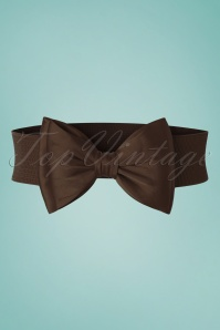 Banned 50s Bella Bow Belt in Brown  230 70 25730 20160308 0007w