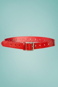 50s Bethany Diamond Belt in Red