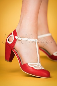 Banned Red T strap Pumps 401 20 24139 15032018 004w