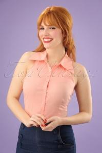 Vixen Jasmine Peach Blouse 112 22 23234 1W