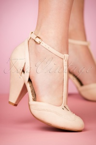 Bettie Page Shoes Annalise Nude Pumps 401 51 23977 15032018 003W