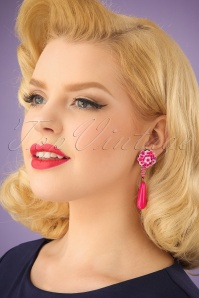 Darling Divine Magenta Earrings 333 22 24710 31032014 001W