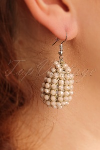 20s Glam Beads Earrings in Sand
