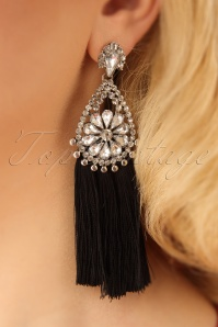 Darling Divine Black and Crystal Earrings 333 14 24720 31032014 002W