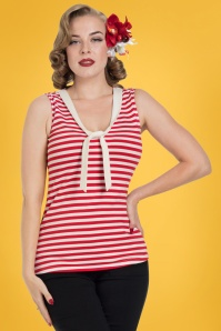 Vixen Haili Nautical Red Striped Top 110 27 23238 2