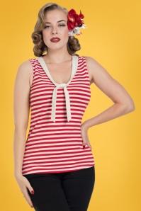 Vixen Haili Nautical Red Striped Top 110 27 23238 2