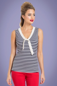 Vixen Haili Nautical Navy Striped Top 11 39 23239 2