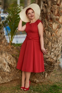 Miss Candyfloss Red Bow Swing Dress 102 20 24175 20180308 0008