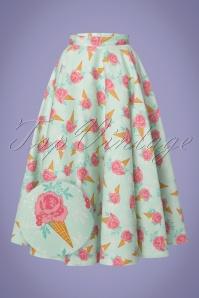 Vixen Amy Floral Ice Cream Swing Skirt 122 49 23227 20180326 0006wv