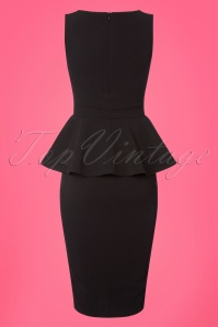 Vintage Chic Peplum Jumbo Crepe Pencil Dress 100 10 24525 20180326 0004w
