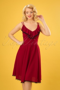 Vixen Veronica Red Pompom Dress 102 20 23212 20180326 01W