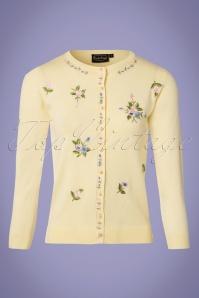 Vixen Ester Yellow Floral Cardigan 140 89 23251 20180326 0001W