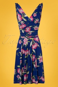 Vintage Chic Grecian Blue Floral Dress 102 39 24532 20180321 0002W
