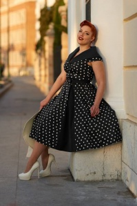 50s Damiana Lou Swing Dress in Black