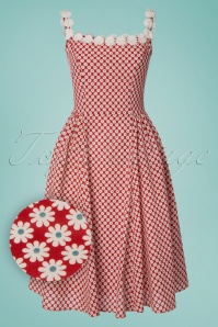 Dancing Days by Banned Red Daisy Dress 102 27 24302 20180327 0001W1