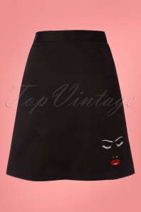 Dancing Days by Banned Black Model Face Skirt 123 10 24318 20180327 0003W