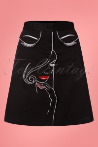 Dancing Days by Banned Black Model Face Skirt 123 10 24318 20180327 0001W