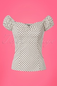 Dancing Days by Banned White Polkadot Top 110 59 24253 20180327 0001W