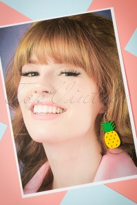 Collectif Pineapple Earrings 333 80 24366 20112017 003W