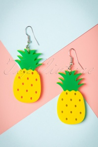 Collectif Pineapple Earrings 333 80 24366 20112017 001W