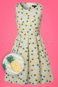 Smashed Lemon White Striped Pineapple Dress 102 59 23517 20180321 0002W1