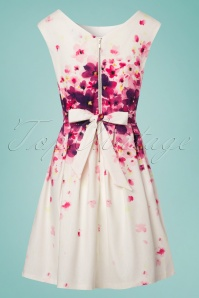 Smashed Lemon White and Pink Floral Bow Dress 102 59 23513 20180321 0008W