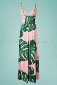 Smashed Lemon Light Pink Leaves Maxi Dress 108 29 23510 20180328 0003W