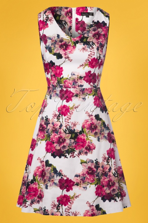 a7809303595 Smashed Lemon White and Pink Floral Dress 102 59 23512 20180321 0002W