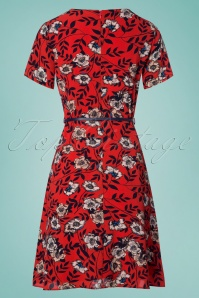 Sugarhill Boutique Ohara Floral Orange Dress 106 27 25217 20180310 0005W