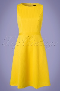 60s Tricia Dress in Yellow