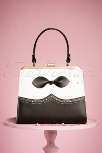 TopVintage Boutique Collection 50s Rachel Black and White Hanbag 212 10 24445 21032018 005W
