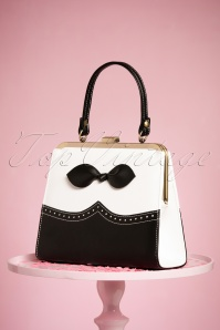 TopVintage Boutique Collection 50s Rachel Black and White Hanbag 212 10 24445 21032018 003W