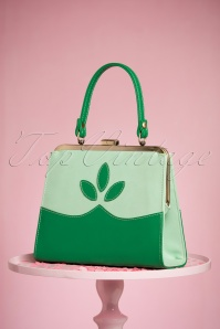 TopVintage Boutique Collection 50s Ava Green Handbag 212 40 24444 21032018 007W