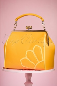 TopVintage Boutique Collection 50s Vanessa Yellow Handbag 212 80 24442 21032018 005W