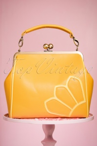 TopVintage Boutique Collection 50s Vanessa Yellow Handbag 212 80 24442 21032018 003W