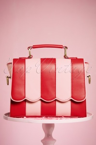 50s Ava Handbag in Red and Pink