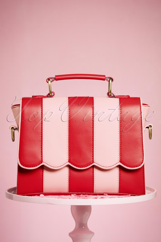 Vintage & Retro Handbags, Purses, Wallets, Bags 50s Ava Handbag in Red and Pink £51.80 AT vintagedancer.com