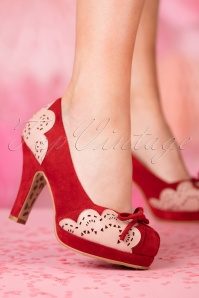 TopVintage Boutique Collection Angie Pump in Red 24403 27032018 005W
