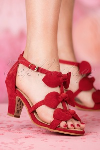 TopVintage Boutique Collection Ava Sandal in Red 24406 27032018 005W