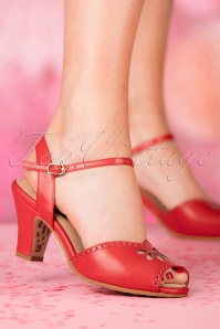 TopVintage Boutique Collection Ava Sandal in Red 24409 27032018 005W