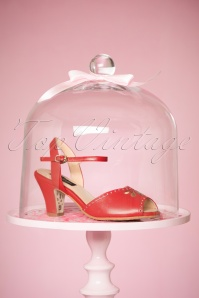 TopVintage Boutique Collection Ava Sandal in Red 24409 21032018 002W