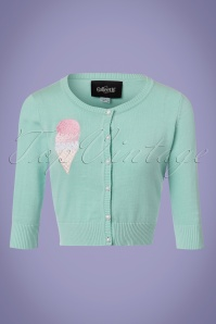 Collectif Clothing Lucy Ice Cream Cardigan in Mint 22538 20171122 0003W