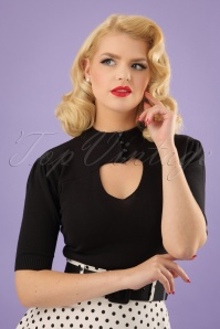 Collectif Clothing Shirley Jumper in Black 22546 20171121 0008W