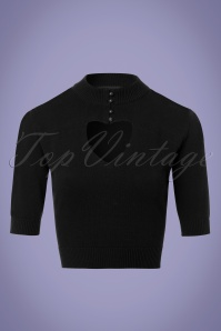 Collectif Clothing Shirley Jumper in Black 22546 20171121 0002W