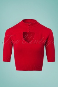 Collectif Clothing Shirley Jumper in Red 23619 20171121 0002W