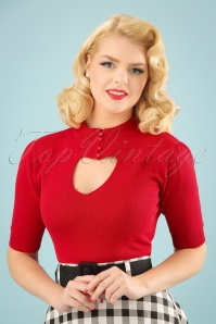 50s Shirley Jumper in Red