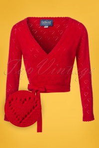 Collectif Clothing Darcy Wrap Around Cardigan in Red 22545 20171121 0001W1