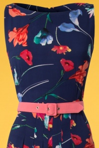 Miss Candyfloss Navy Floral Jumpsuit 133 30 24170 20180329 0004V