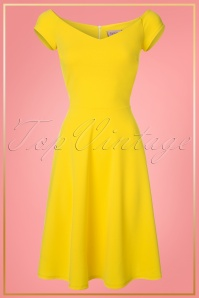 Vintage Chic Yellow Swing Dress Unknown 20180328 0002W